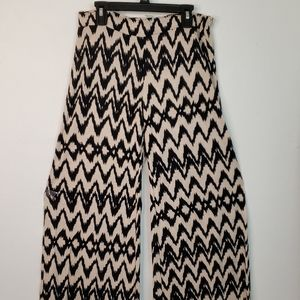 A3 Design Woman's Rayon Palazzo Pants Chevron Boho